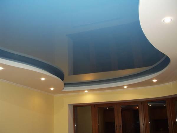 Натяжной потолок на кухню своими руками фото 334