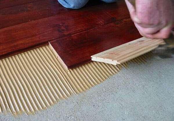 Как сделать деревянный пол на бетонном основании  простое и понятное руководство по монтажу