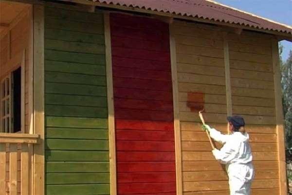 Фасадная краска по дереву: какую выбрать