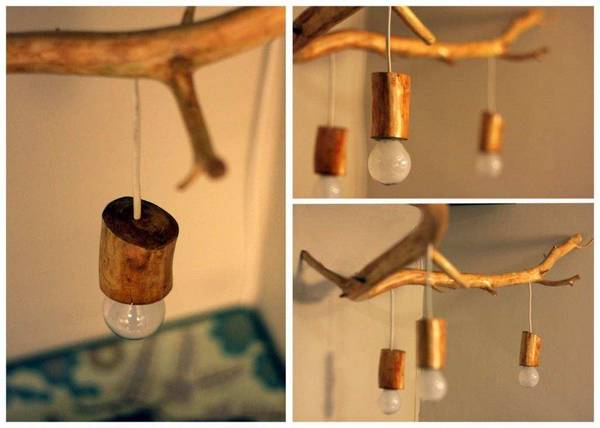 Как сделать деревянную люстру