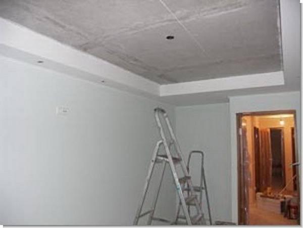 Порядок ремонта комнаты с натяжным потолком